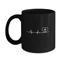 Christian Cross Heartbeat God Jesus Mug