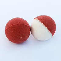 Luxury Peppermint Candy Cane Bath Bomb Fizzy