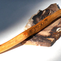 Fir Wood Wand of Rune Power, Wicca, Wiccan, Witch