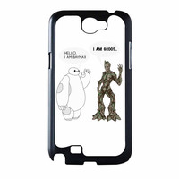 Hello I Baymax I Groot Samsung Galaxy Note 2 Case
