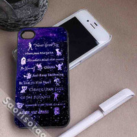 Disney Lessons Learned Mash Up for iPhone 4/4s, iPhone 5, 5s, 5c Case, Samsung Galaxy S3, S4 Case