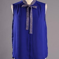 Royalty Tie Blouse
