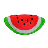 Watermelon Slice Chewy Squeaker Plush Dog/Puppy Toy