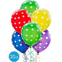 Polka Dot Balloons 20ct - Primary Color