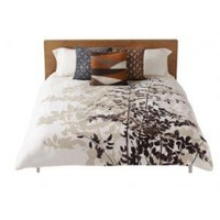 Amenity Bedding Fern Organic Cotton Duvet Cover in Cocoa