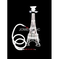 """White 18"""" 1 Hose Eiffel Tower Hookah Special Edition Huka Pipe"""