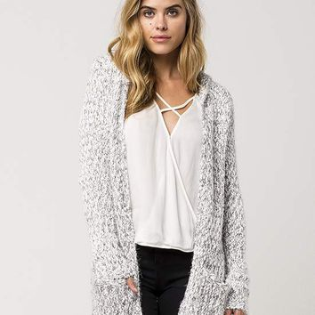WOVEN HEART Multi Knit Womens Hooded Cardigan | Cardigans + Wraps