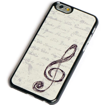 iPhone 6 Case Music G Clef Vintage Style