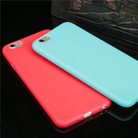 Hot sale Beautiful protective shell Candy Colorful Ultra thin Cute Soft TPU Phone Cases for iPhone 6 6S 6Plus 6s plus 7 7plus