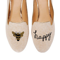 Women's Flats - Bee Happy Smoking Slipper | C. Wonder