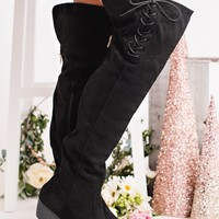 Better Than Yours Knee High Boots (Black)