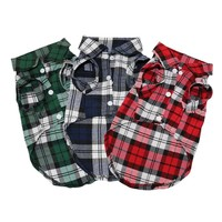 Plaid Dog Coats Pet Jacket Puppy T-shirts Cat Clothes Outfit for Small Dog Spring Summer Pet Clothes Apparel Ropa para Perros 25