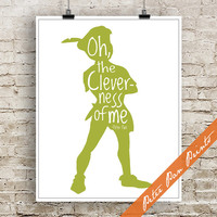 Oh the Cleverness of Me - Peter Pan Inspired Art Print (Unframed) (featured in Olive) Peter Pan Prints