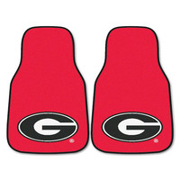 Georgia Bulldogs NCAA Car Floor Mats (2 Front) G Logo on Red