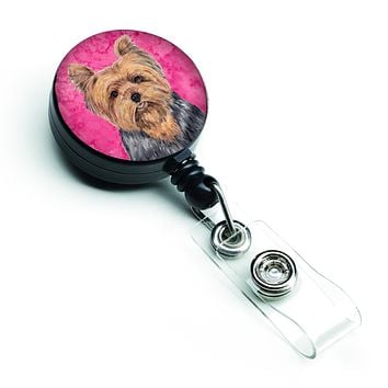 Yorkie Retractable Badge Reel or ID Holder with Clip