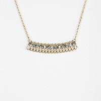 Row Of Rhinestones Necklace - Urban Outfitters
