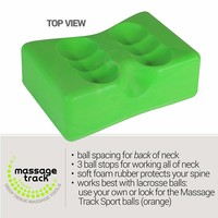 Neck Track: Myofascial Release, Trigger Point, Mobility & Physical Therapy Tool Relieves Pain & Tension Headaches, Size: M