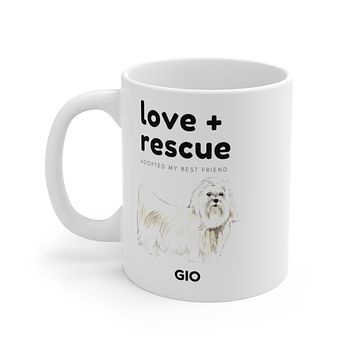 love + rescue Mug — Maltese