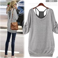 Leisure Personality Charming Halter Two Shirt