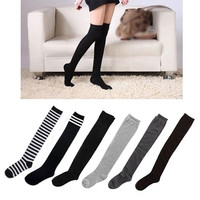 Fashion Sexy Cotton Over The Knee Socks Thigh High Stockings Thinnery = 1930019076