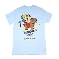 Sun's Out, Tongues Out Tee by Puppie Love