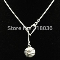 Vintage Silvers Baseball Softball Heart  Charms Choker Necklace