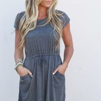 Whenever Wherever Dress {Charcoal}