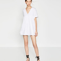 POPLIN JUMPSUIT DRESS - View All-DRESSES-WOMAN-SALE | ZARA United States
