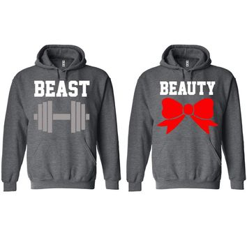 Beast and Beauty Charcoal Hoodie