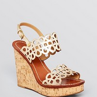 Tory Burch Platform Wedge Sandals - Nori