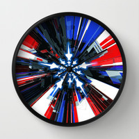 USA Tech Flag Wall Clock by Emiliano Morciano (Ateyo)