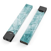 Cracked Turquise Marble Surface - Premium Decal Protective Skin-Wrap Sticker compatible with the Juul Labs vaping device