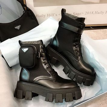 PRADA Monolith Re-Nylon Gabardine booties