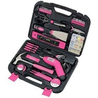Apollo Precision Tools DT0773N1 Household Pink Tool Kit, 135-Piece