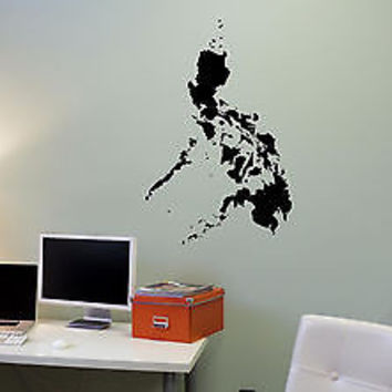 Wall Mural Vinyl Decal Sticker Philippines Map AL316