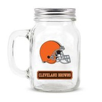 Cleveland Browns NFL Mason Jar Glass With Lid