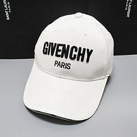 GIVENCHY Trending Women Men Stylish Embroidery Sports Cap Baseball Cap Hat White