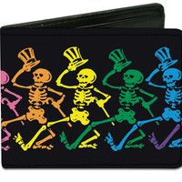 Grateful Dead Men's Dancing Skeletons Bi-Fold Wallet