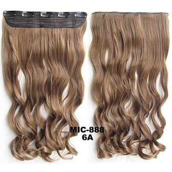Bath & Beauty 5 Clip in synthetic hair extension hairpieces wavy slice curly hairpiece MIC-888 6A,Hair Care,fashion Cosplay ombre 1PC