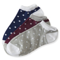 3-Pack Dot Ankle Socks - Aeropostale