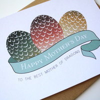 Game of Thrones Mother's Day Card Happy Birthday card Mom - Mother of Dragons