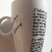 Mug with Marilyn Monroe quotes