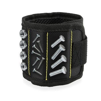 Magnetic Wristband, 5 Strong Magnets for Holding Screws