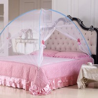 2016 New Summer Bi-parting Folding Mesh Insect Bed Mongolian Yurt Mosquito Net King Queen Size Bedding Canopy Curtain Dome Tent