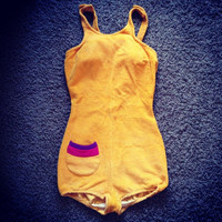 Vintage Sunbathing Suit / XSmall  Small by MarshmallowElectra
