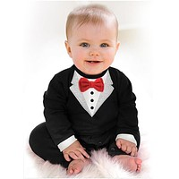Kid Children Baby Clothes Sets Baby Girl Boy Bodysuits One-pieces Gentleman Infant Baby Jumpsuit Unisex