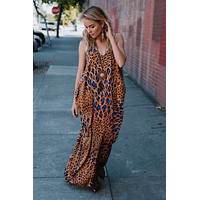 Eye Of The Beholder Printed Maxi Dress - Multi