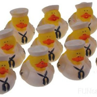 Set of 12 US Military Navy Rubber Ducks Duckie Party Favors Cake Toppers Dozen