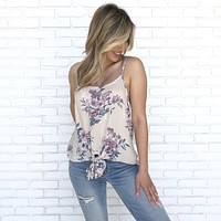Fragrant Floral Knot Blouse
