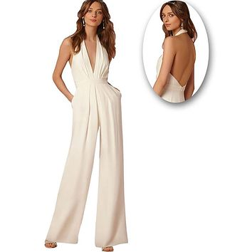 Favorite Spot Coverall Halter Jumpsuit